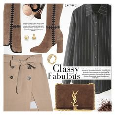 """Classy&Fabulous"" by metisu-fashion ❤ liked on Polyvore featuring Sigerson Morrison, Yves Saint Laurent, Nude by Nature, polyvoreeditorial, polyvoreset and metisu"