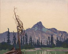 Mount Cathedral from Lake O'Hara, B.C. by WJ Phillips