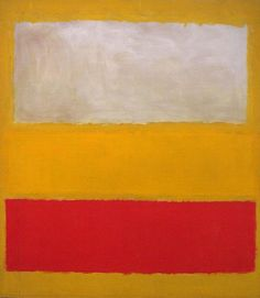Mark Rothko, No. 13 (White, Red, on Yellow), 1958. Metropolitan Museum of Art, New York. Abstract art painting