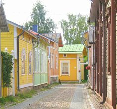 Wooden houses in Rauma, Finland Beautiful World, Beautiful Places, San Fransisco, Science And Nature, Helsinki, World Heritage Sites, Old Town, Denmark, Norway