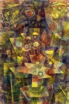 """""""Still Life with Autumn Flowers (Herbstblumen Stilleben) 1925"""" - canvas print by Paul Klee"""