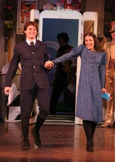 Jonathan Groff and Lea Michele as Melchior and Wendla in Spring Awakening.