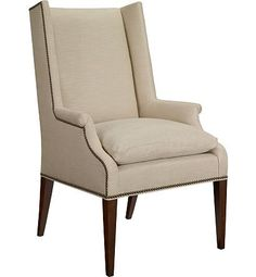 Hickory Chair I Martin Host Chair with Loose Cushion and Arms