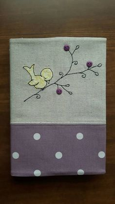 Items Similar To Bird Applique Fabric Covered Notebook