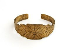 """Inspired by Mesoamerican stepped temple designs. Each cuff is hand-fabricated, please allow for slight variations. Length: 6"""" and slightly adjustable Width: 7/8"""" Your jewelry will arrive packaged in a"""