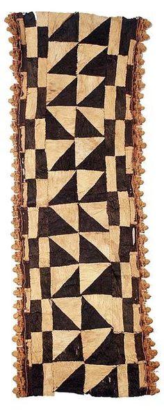Kuba bark cloth used in African dances: