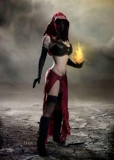 pyromancer cosplay model Angie Starr photographer Nate Dorn Deadpool, Darth Vader, Cosplay, Costumes, Superhero, Model, Fictional Characters, Dress Up Clothes