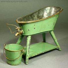 Antique dollhouse bath in 1/12 scale