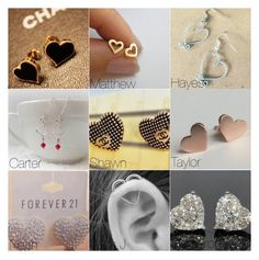 """Heart Earrings he Buys you // Magcon preference"" by onedirection-5sos-preferences122 ❤ liked on Polyvore featuring moda e Sammiespreferencesxx"