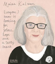 It's week two of the March IlloStories workbook. You have created some gorgeous work already this month! This piece is more via Maira Kalman, Brochure Inspiration, Special People, Portrait Inspiration, Childrens Books, Illustrators, Instagram, Authors, Design