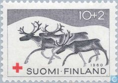 Shop Finnish Christmas Reindeer Card created by nordia. Xmas Theme, Reindeer And Sleigh, Love Stamps, Christmas Nail Designs, Scandinavian Christmas, Wildlife Art, Red Cross, Postage Stamps, Moose Art