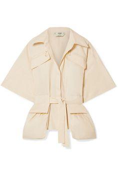851972ea9148ce OSCAR DE LA RENTA Ric-Rac Trimmed Cotton-Blend Blouse ...