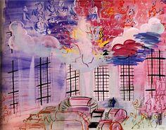 Electricity, 1937-Raoul Dufy - by style - Naïve Art (Primitivism)