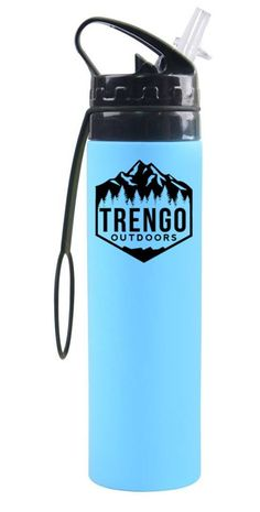 Trengo Outdoors Collapsible Water Bottle Trengo Outdoors Double Wall Insulated Water Bottle #trengooutdoors #hiking #kayaking #camping #hamock #backpacking