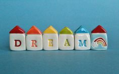 DREAM  Little House Village by thelittlereddoor on Etsy