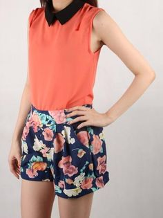 Perfect match for your summer getaway! Summer Belle Top mix with Floral Faith Shorts