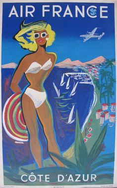 Air France poster for French Riviera