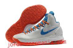 Home White Blue Orange Nike Zoom KD 5 554988 100 Kevin Durant Basktball Shoes Kobe 9 Shoes, Kd Shoes, Jordan Shoes, Star Shoes, Nike Zoom, Nike Lebron, Lebron 11, Nike Basketball Shoes, Running Shoes Nike