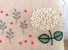 「刺繍 紫陽花」の画像検索結果