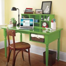 how to make a desk with storage cubbies from this old house