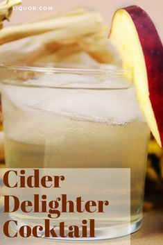 Make this Cider Delighter cocktail for your next gathering. This vodka-based cocktail includes allspice and baked apple flavors. New Years Cocktails, Winter Cocktails, Vodka Cocktails, Christmas Cocktails, Easy Cocktails, Fun Drinks, Cocktail Recipes, Drink Recipes, Beverages