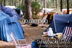 ✔ I loved camping but after 3 nights of sleeping in a tent i was ready to be back in my own bed.