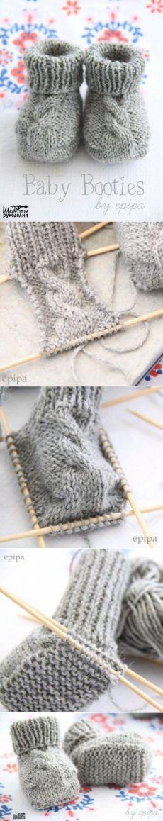 Пинетки вязанные спицами / Дизайн для всех!