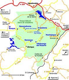 Sierra De Grazalema Mapa.Mapa De La Sierras De Grazalema Google Search Andalucia