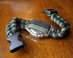 Stormdrane's Blog: Two toned woven paracord watchband