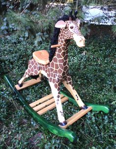 Large Deluxe Woodworking Plans for Rocking Giraffe for Kids