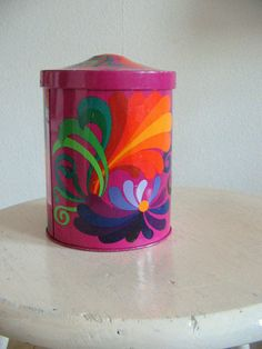 Vintage 70s Kitchen Canister