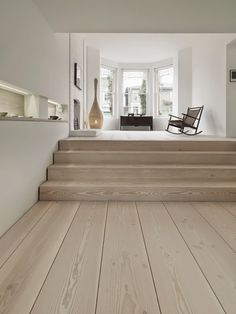 white washed oak floors ~with pale grey walls White Washed Oak, White Oak, White Washed Floors, White Walls, Interior Architecture, Interior Design, Timber Flooring, Timber Planks, Hardwood Floors