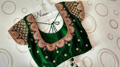 Wedding Saree Blouse Designs, Pattu Saree Blouse Designs, Blouse Designs Silk, Designer Blouse Patterns, Hand Work Blouse Design, Simple Blouse Designs, India, Sarees, Nice