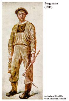 Bergmann 1909 | Nach einem Gemälde von Constantin Meunier. Baseball Cards, Sports, Simple Paintings, Woodland Forest, Hs Sports, Sport