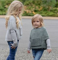 Odila Cape Pullover Knitting pattern by The Velvet Acorn Baby Knitting Patterns, Knitting For Kids, Knitting Projects, Crochet Patterns, Crochet Baby, Knit Crochet, Velvet Acorn, Baby Sweaters, Kids Fashion