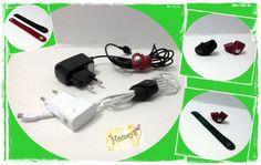 Accesorii din piele naturala neagra/rosie + capsa metalica, ideale pt prinderea firului de la casti/incarcator; realizate manual.