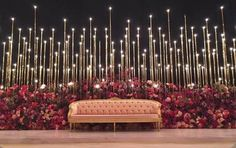24 Gorgeous Wedding Stage Decoration Ideas & Themes That Will Leave You Speechless! 24 Gorgeous Wedding Stage Decoration Ideas & Themes That Will Leave You Speechless!This Wedding Season Let's Create Magic With Dazzling Wedding Stage Decorations, Reception Stage Decor, Wedding Stage Design, Wedding Reception Backdrop, Marriage Decoration, Wedding Entrance, Wedding Mandap, Backdrop Decorations, Backdrop Photobooth