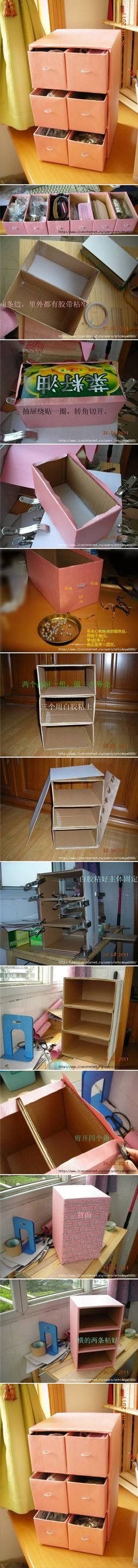 DIY Small Cardboard Chest