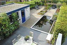 Narrow modern garden -3