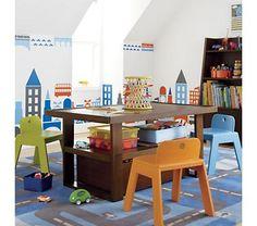 Kids' Play Tables: Kids Chocolate Colored Adjustable Mojo Play Table