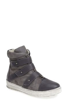 Plomo 'Libby' Leather & Suede High Top Sneaker (Women) available at #Nordstrom