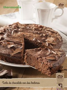 Tarta de chocolate con dos texturas con Thermomix. Food N, Food And Drink, Queen Cakes, Chocolate Sweets, Cakes And More, Nutella, Sweet Recipes, Food To Make, Deserts