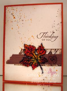 KathleenStamps: Gently Falling, Truly Grateful, and Gorgeous Grunge stamp sets and Stained Glass Technique video