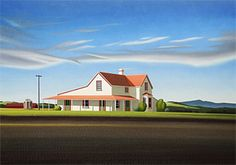 Brian Dahlberg // 'Home From School' Waimate North #Art #Landscape #Oil #Painting #NewZealand