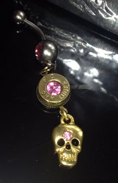 Bullet casing belly button ring by pertypertybangbangs on Etsy, $12.25