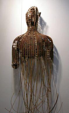 Art | アート | искусство | Arte | Kunst | Sculpture | 彫刻 | Skulptur | скульптура | Scultura | Escultura | Sopheap Pich | 'Buddha of the Scarred Land'.  Rattan