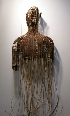 Art | アート | искусство | Arte | Kunst | Sculpture | 彫刻 | Skulptur | скульптура | Scultura | Escultura | Sopheap Pich | 'Buddha of the Scarred Land'.  Rattan