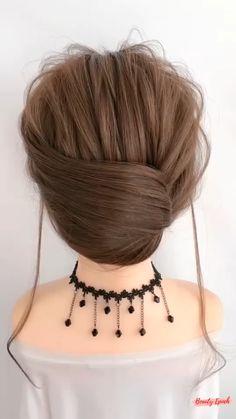 Hairdo For Long Hair, Bun Hairstyles For Long Hair, Braided Hairstyles, Donut Bun Hairstyles, Easy Updos For Medium Hair, Trending Hairstyles, Front Hair Styles, Medium Hair Styles, Hair Band Styles