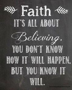 faith is it