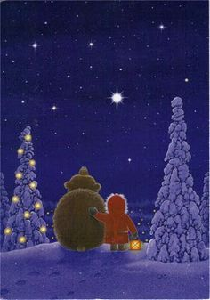Christmas Magic ~by Eva Melhuish I love her Christmas Cards! Christmas Scenes, Noel Christmas, Vintage Christmas Cards, Xmas Cards, Winter Christmas, Christmas Crafts, Illustration Noel, Christmas Illustration, Flowers Wallpaper